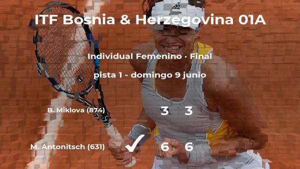 Mira Antonitsch, campeona del torneo de Banja Luka