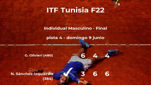 El tenista Nikolás Sánchez-Izquierdo se convierte en el campeón del torneo de Tabarka