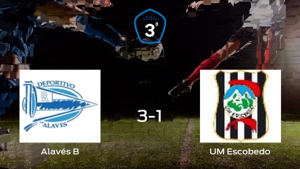 El Alavés B vence 3-1 contra el UM Escobedo durante la ida de los playoff