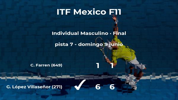 Gerardo López Villaseñor gana en la final del torneo de Cancún