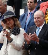 Juan Carlos I y la Infanta Elena