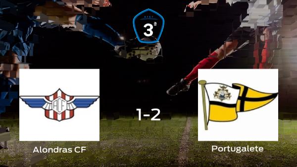 El Portugalete logra imponerse por 1-2 en el partido de ida de los playoff
