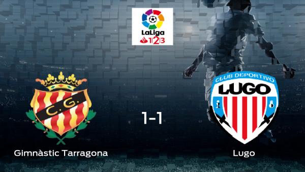 El Gimnàstic Tarragona y el Lugo se reparten los puntos tras empatar 1-1