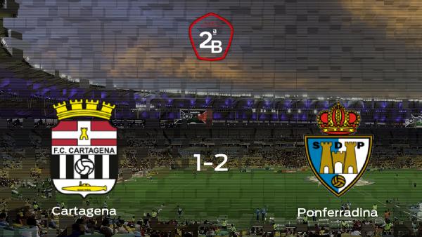 La Ponferradina gana 1-2 contra el Cartagena durante la ida de los playoff