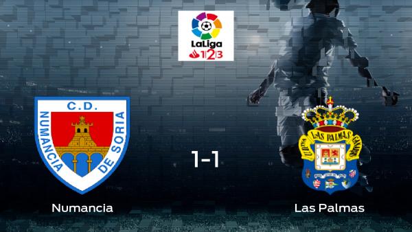 El Numancia no pudo conseguir el triunfo contra Las Palmas (1-1)