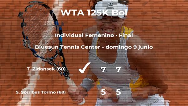 La tenista Tamara Zidansek gana la final del torneo de Bol