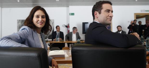 Reunión de los candidatos del PP y Ciudadanos a la Presidencia de la Comunidad de Madrid, Isabel Díaz Ayuso e Ignacio Aguado