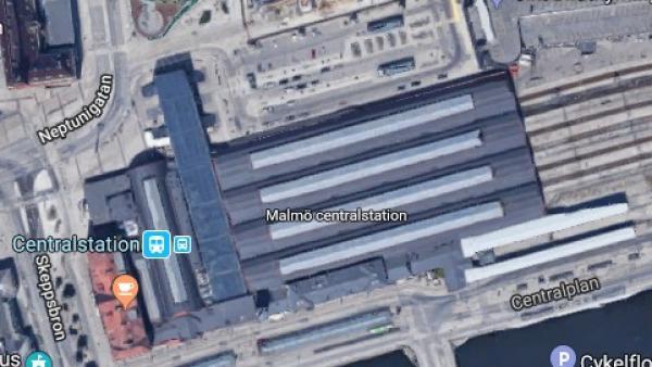 Estación de tren de Malmo, Suecia.