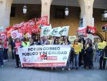 Zaragoza.- Los sindicatos cifran en el 90% el seguimiento de la huelga en Correos de este lunes