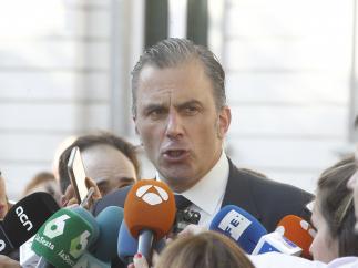 Javier Ortega-Smith realiza una declaración frente al Tribunal Supremo