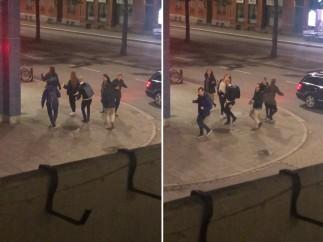 Un grupo de suecos bailando ABBA en la calle