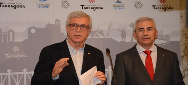 Josep Fèlix Ballesteros, alcalde de Tarragona y Josep M. Barberà
