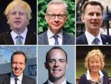 Los candidatos a sustituir a Theresa May.