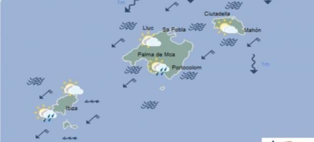 Predicción meteorológica para este miércoles 12 de junio en Baleares:  temperaturas en descenso