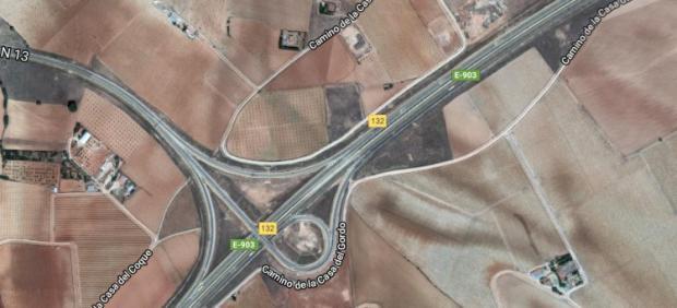 Punto kilométrico 43 de la Autovía de Extremadura a la Comunidad Valenciana.