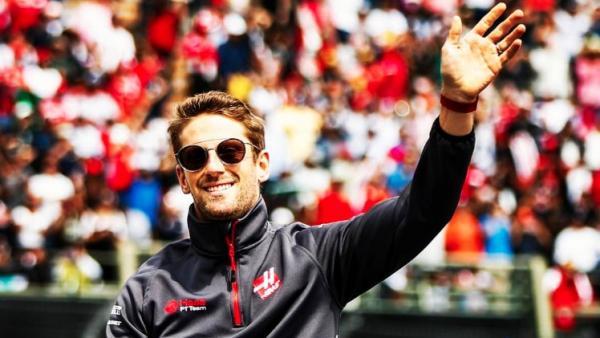 El piloto de Fórmula 1 Romain Grosjean