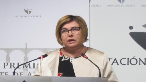 Rosario Cordero muestra su disposición a repetir como presidenta de la Diputación de Cáceres