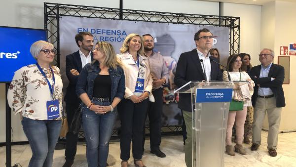 26M-M.- Ballesta (PP) vence en Murcia sin mayoría y deja las 'puertas abiertas' a todos los que quieran dialogar