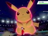Pikachu con el efecto Dinamax en 'Pokémon Espada y Escudo'