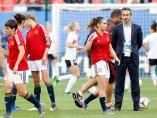 El entrenador de la selección española de fútbol femenino, Jorge Vilda.
