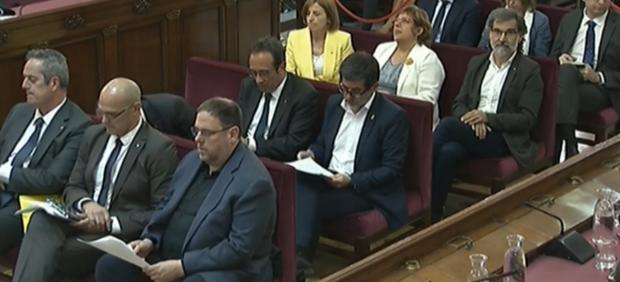 Los acusados en el juicio del procés.