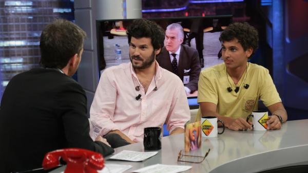 Willy Bárcenas y Antón Carreño, miembros de Taburete, en 'El hormiguero'.