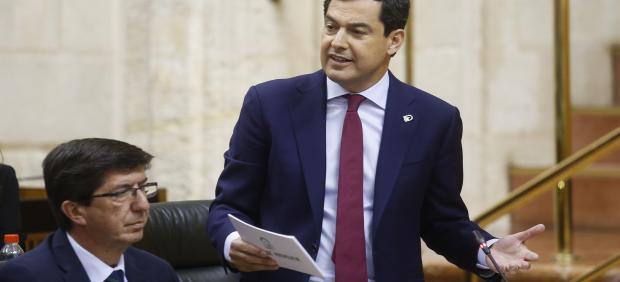 Cádiz.- Moreno asume compromisos de 'prosperidad' con el Campo de Gibraltar para 'achicar' espacios al crimen organizado