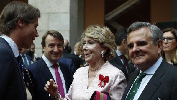La expresidenta de la Comunidd de Madrid Esperanza Aguirre.