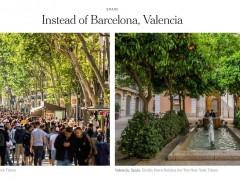 Imagen de La Rambla de Barcelona y de la Lonja de la Seda de Valencia