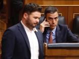 Pedro Sánchez y Gabriel Rufián en el Congreso de los Diputados