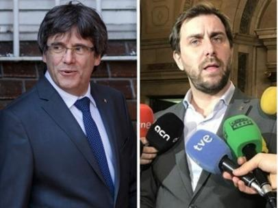 Puigdemont y Comín.