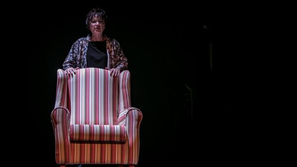 María Luisa Borruel en el papel de la escritora