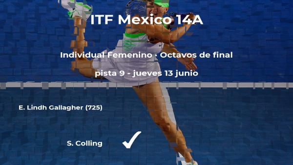 Solymar Colling le quita el puesto de los cuartos de final a la tenista Emilie Lindh Gallagher