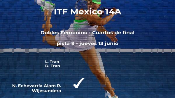 Las tenistas Echevarría Alam y Wijesundera estarán en las semifinales del torneo de Cancún