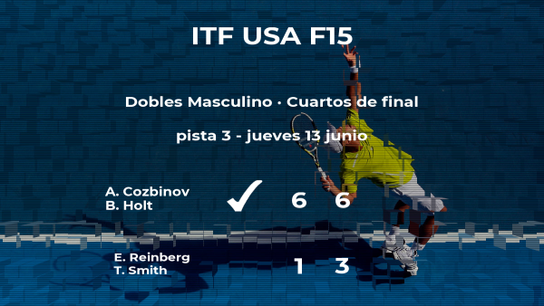 Los tenistas Reinberg y Smith quedan eliminados en los cuartos de final del torneo de Wichita