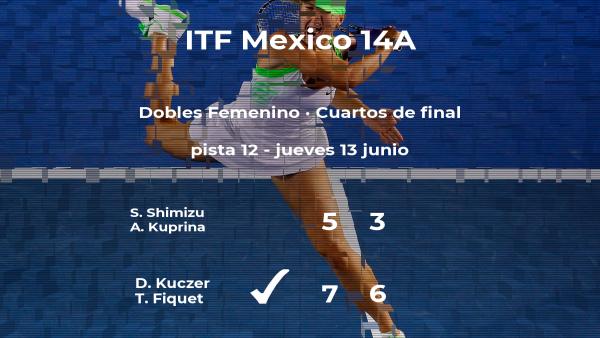 Kuczer y Fiquet vencen en los cuartos de final del torneo de Cancún