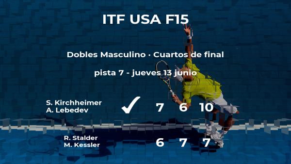 Los tenistas Kirchheimer y Lebedev se clasifican para las semifinales del torneo de Wichita