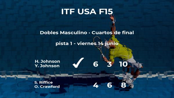 Los tenistas Johnson y Johnson logran clasificarse para las semifinales del torneo de Wichita
