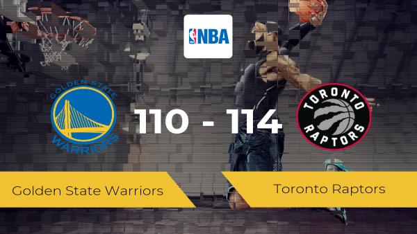 Toronto Raptors pasa a la siguiente ronda tras vencer a Golden State Warriors por 110-114