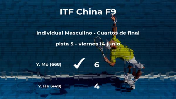Sorpresa en los cuartos de final: el tenista Yecong He se queda fuera del torneo de Shenzhen