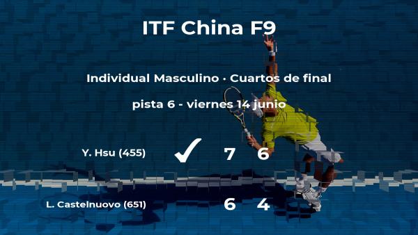 Yu Hsiou Hsu le quita el puesto de las semifinales a Luca Castelnuovo