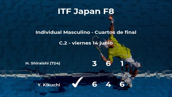 Yuta Kikuchi logra clasificarse para las semifinales a costa del tenista Hikaru Shiraishi
