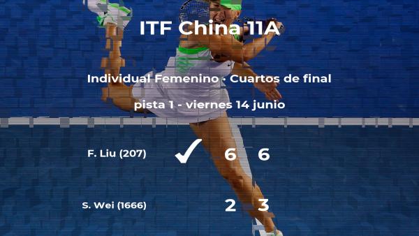 La tenista Fangzhou Liu, clasificada para las semifinales del torneo de Hengyang