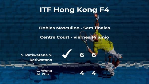 Ratiwatana y Ratiwatana logran clasificarse para la final a costa de Wong y Zhu