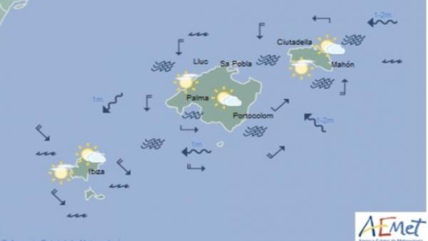 Predicción meteorológica para este viernes 14 de junio en Baleares: intervalos nubosos