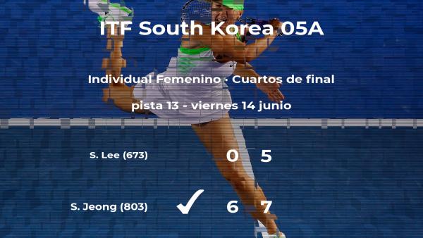 Sunam Jeong le quita la plaza de las semifinales a la tenista So-Ra Lee