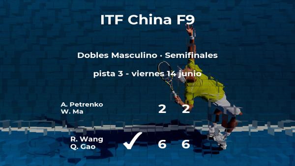 Los tenistas Wang y Gao estarán en la final del torneo de Shenzhen