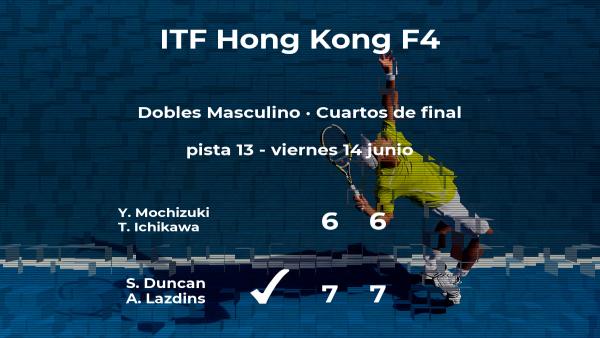 Los tenistas Duncan y Lazdins estarán en las semifinales del torneo de Hong Kong