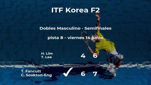 Los tenistas Fancutt y Sookton-Eng pasan a la final del torneo de Gimcheon