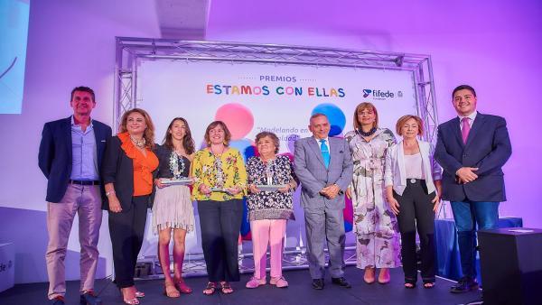 María Ferraz y el CIFP Las Indias, ganadores de los 'III Premios Estamos con Ellas'
